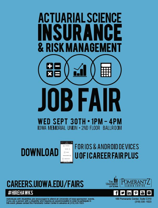 actuarial science  insurance  u0026 risk management career fair