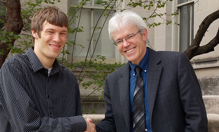 Professor Joseph B. Lang and Student