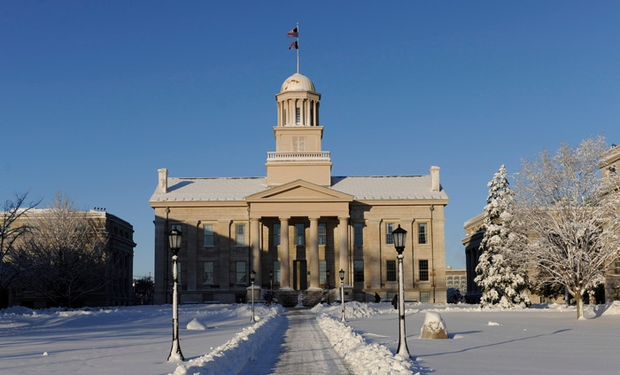 Image result for iowa old capitol snow 2018