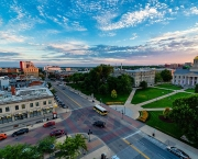 Overhead view of Iowa City.