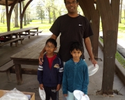 April 2009, Shyamal and his children