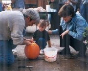 October 1999, Fall party with Joe Lang and Karen Heimer and Neve
