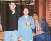 December 1999.  From left to right: Nate Anderson, Eric Friedman and Subhashish Chakravarty.